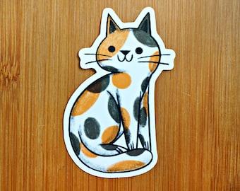 Calico Cat Vinyl Sticker