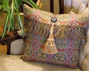 Re-made Silk Scarf Pillow