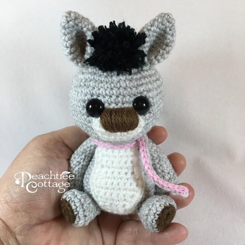 Crochet Amigurumi Donkey Crochet Donkey Handmade Donkey image 0