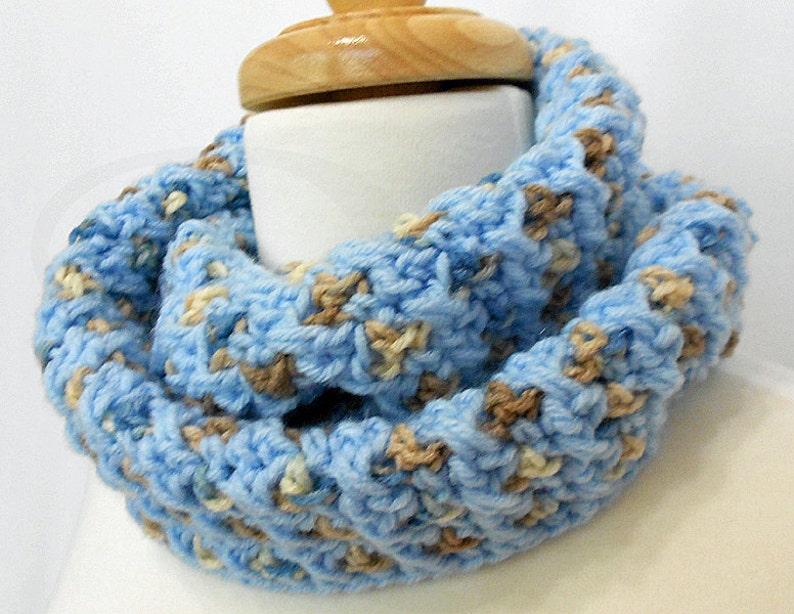 Crochet Infinity Scarf  Crochet Infinity Cowl  Great Neck image 0