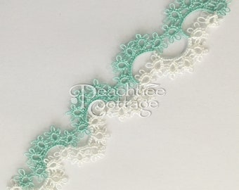 Cascade Tatted Bookmark - Tatted Lace Bookmark - Made To Order - Your Color Choice