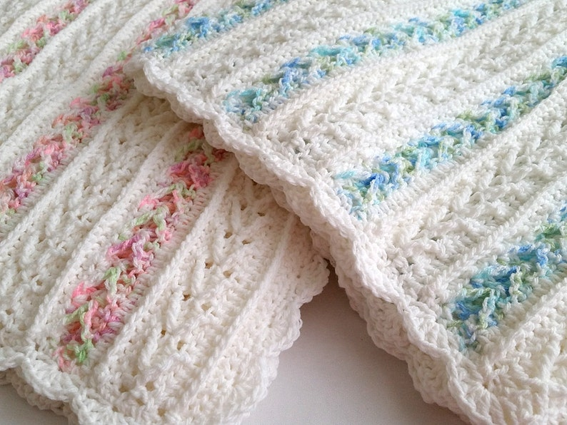 Crochet Pattern  Avalon Baby Blanket  Baby Afghan Babyghan  image 0