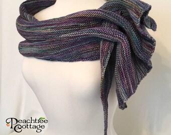 Knit Scarf - Hand Knit Scarf - Arrow Scarf - Gathered Scarf - Ready to Ship