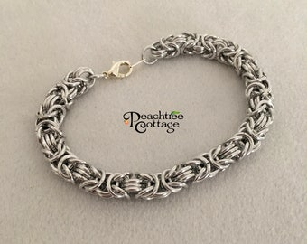 Byzantine Chainmaille Bracelet - Byzantine Bracelet - Chain Maille Bracelet - Made To Order