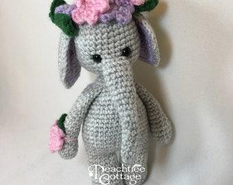 Crochet Amigurumi Elephant, Crochet Elephant, Gray Elephant, Crochet Toy, Stuffed Elephant, Grey Elephant Amigurumi Toy, Made to Order