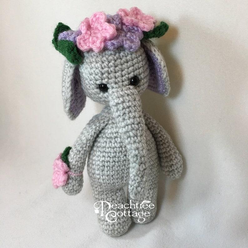 Crochet Amigurumi Elephant Crochet Elephant Gray Elephant image 0