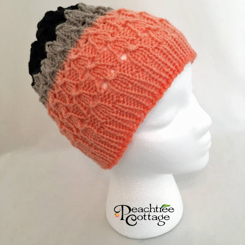 Hand Knit Hat Lace Slouch Hat Soft Knitted Hat Cloche Hat image 0