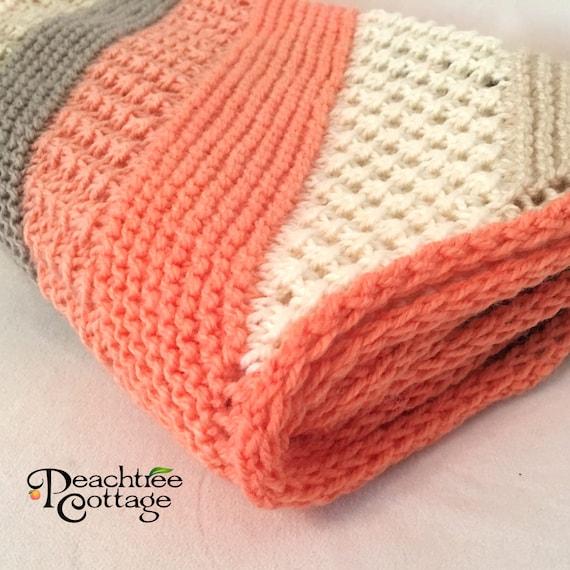 Knit Baby Blanket Pattern Hampton Baby Afghan Pattern Etsy