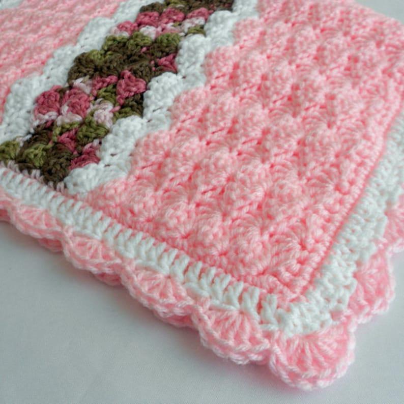 Crochet Pattern  Cameron Baby Afghan Babyghan  Throw Blanket image 0