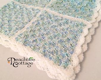 Crochet Pattern - Ipson Baby Afghan Pattern - Babyghan Afghan - Baby Blanket Pattern - PDF Format
