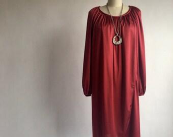 Vintage 1970s Tulip Hem Cocoon Disco Dress