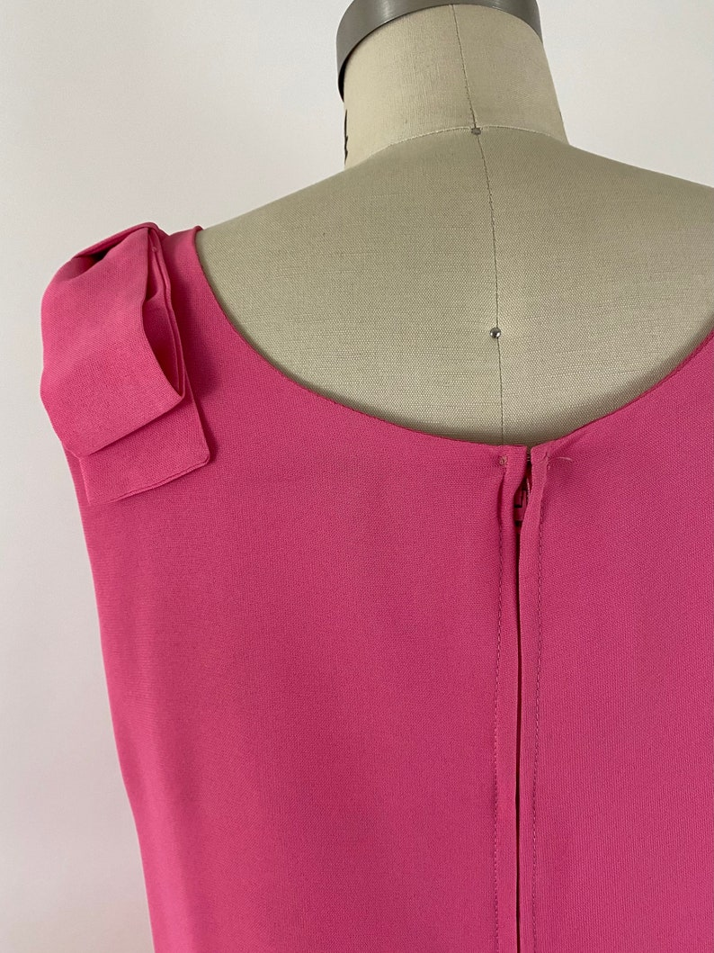 Vintage 60s Pink Beaded Shift Dress \u2022 Size Medium