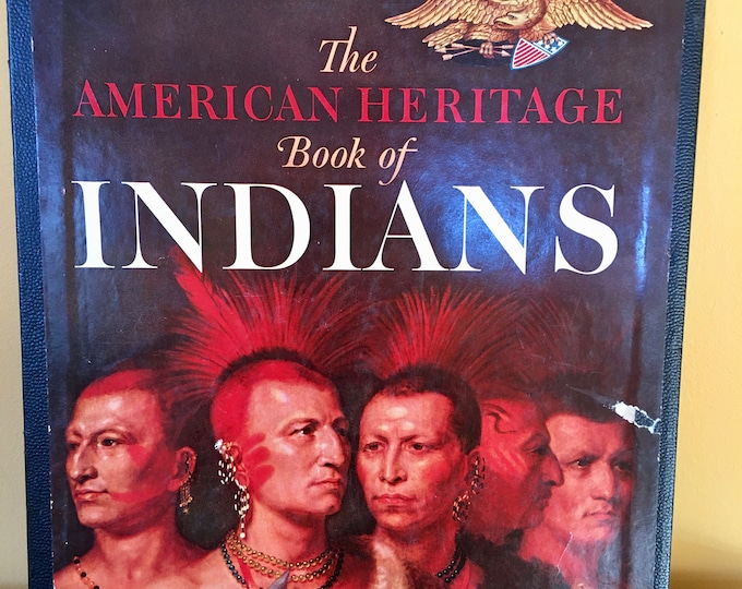 1961 American Heritage Book of Indians Hard Cover Box Cover Introduction by JFK Color Black and White Pictures History Book