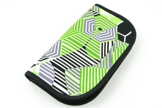 Travel Zip Around Knitting Needle Case Organizer - Pattern Play - black pockets notions zipper