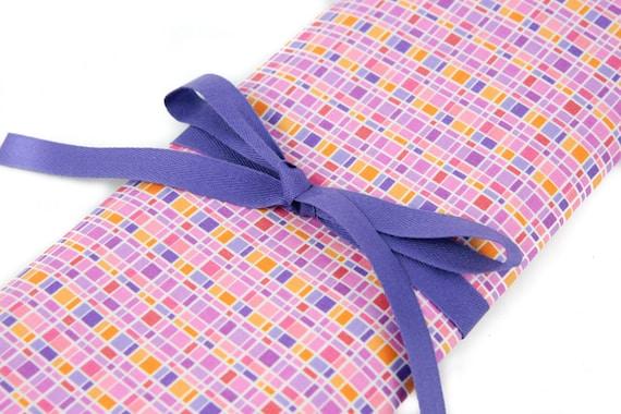 Knitting Needle Case, City Lights,  30 purple pockets for all sizes, Needle Storage, Knitting Needle Organizer