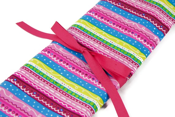 Knitting Needle Case, Secret,  30 pink pockets for all sizes, Needle Storage, Knitting Needle Organizer