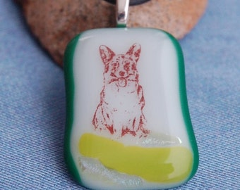 Corgi glass Necklace Pet Breed Jewelry