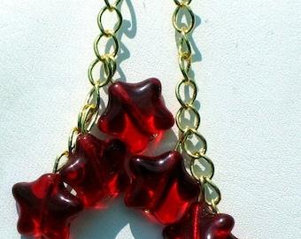 Red Hot Triple Star Earrings