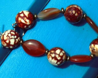 Mars Power Bracelet in Sterling Silver with Agate