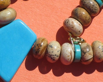 Brown and Blue Necklace
