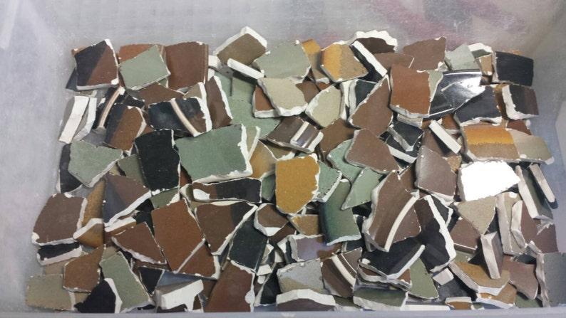 Mosaic supply of broken stoneware china plates  mosaic craft image 0