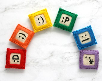 emoji magnet set, geeky graduation gift for teen boy, cheer up gift, office birthday gift for gamer, cubicle accessories, fun office decor