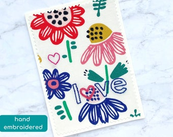sending love card, missing you card, cotton anniversary card for wife, romantic card, love note for him, just because card, cheer up card