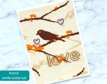love card, cotton anniversary card, sending love note for wife, cheer up card, missing you card, just because card, romantic card for him
