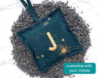 personalized lavender sachet, custom birthday gift for mom, self care gift, secret santa gift for her, stocking stuffers for girls, cosmos