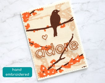 adore card, cotton anniversary card, second anniversary card, sending love card for girlfriend, birthday card for wife, missing you card