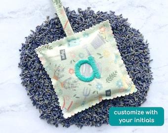 custom embroidered lavender sachet, personalised gift for mom, small christmas gift,  self care gift, custom stocking stuffer for women