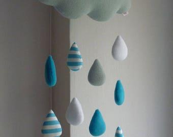 Cloud baby mobile - Rain Cloud
