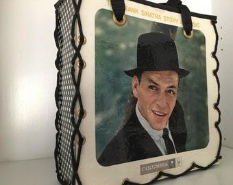 celebrity fan art Canvas Tote bag classic music lover Fathers Day retro vintage Jail Time Frank Sinatra reusable handbag Eco Friendly