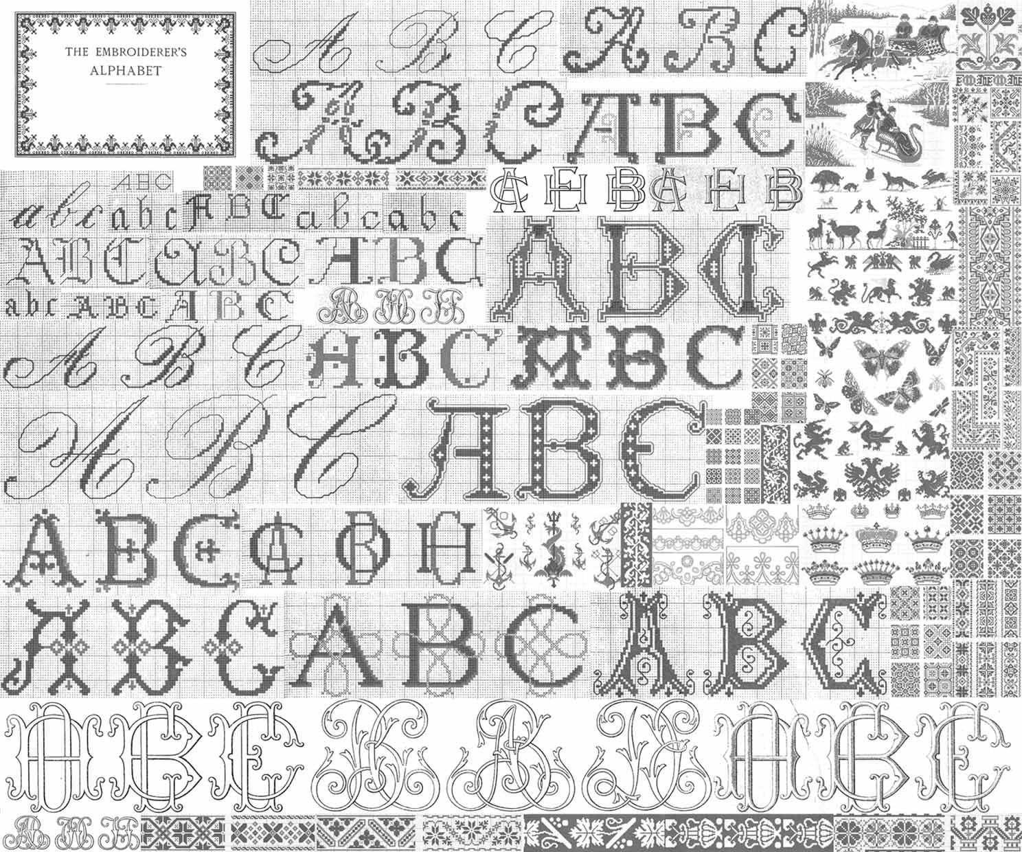 Alfabetos DIY bordada de C1900 DMC bordado libro patrones del | Etsy