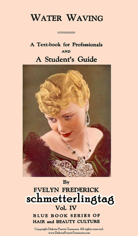 1920s Headband, Headpiece & Hair Accessory Styles 1923 Roaring 20s Flapper Era Hairstyles Book Water Waves DIY Beautician Guide $17.99 AT vintagedancer.com