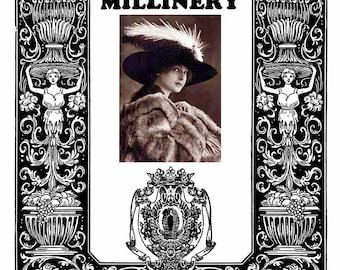 1920s Flapper Era Millinery DIY Milliner Hat Making Make Hats Vintage Book Blocks Felt 20s