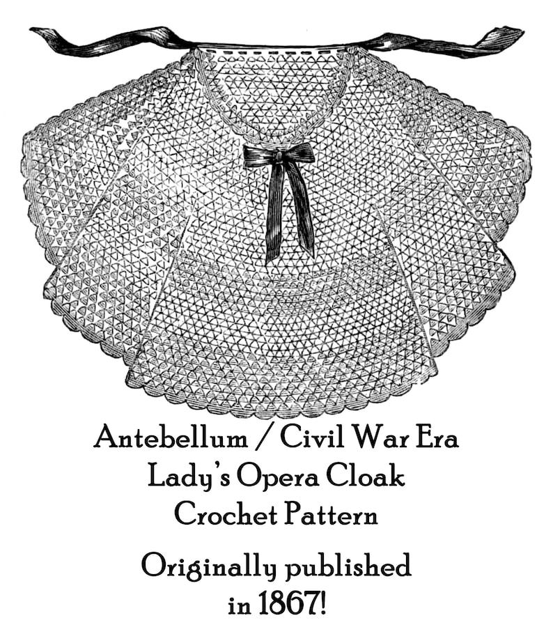 Antebellum Victorian Crochet Bonnet Cap Pattern 1855