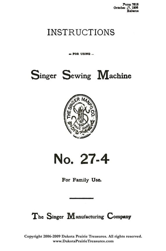 1906 Edwardian Singer Pedal Nähmaschine Anlagen verwenden | Etsy