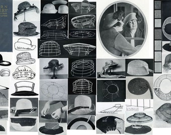 Millinery Hat Making Lessons LYON FLAPPER Hats CD Book 1922