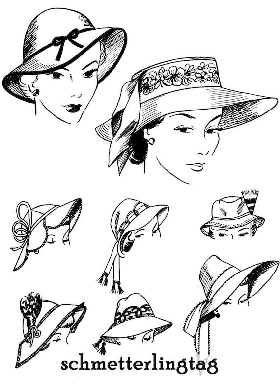 1952 Sombrerería libro sombrero haciendo hacer   Etsy