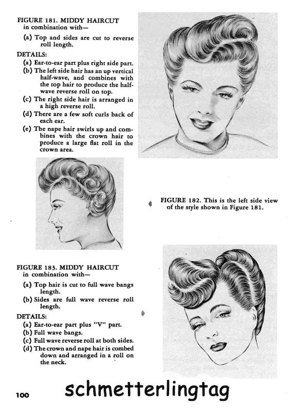 40er Jahre Frisuren Buch Swing ära Illustriert Etsy