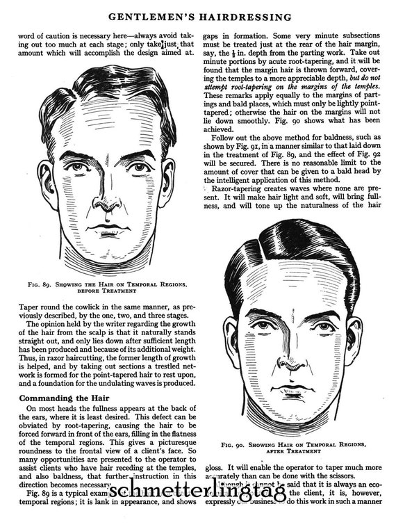 Men's Vintage Style Hats 1930 Prohibition Era Hairstyle Book Mens Children Flapper Hairstyles DIY Beautician $14.99 AT vintagedancer.com