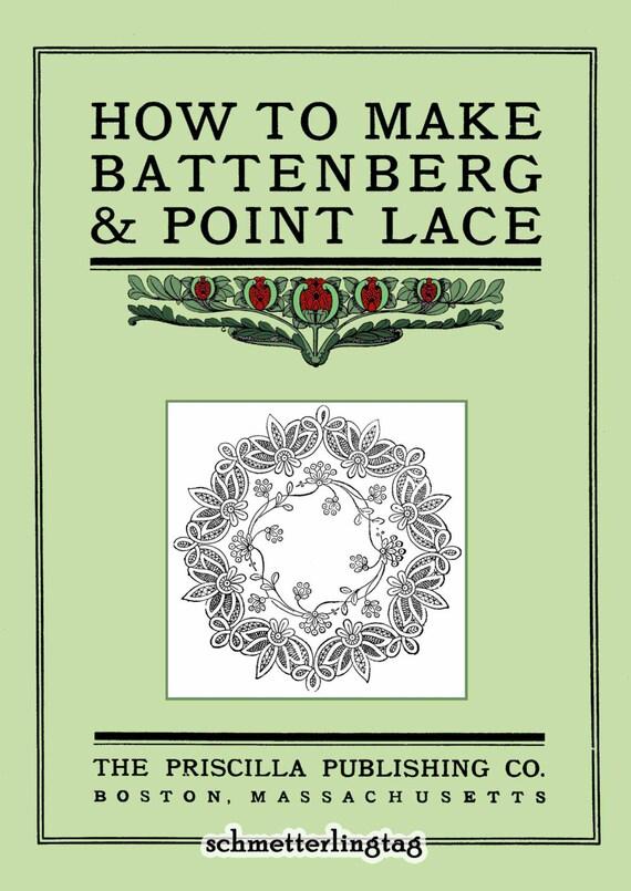 1900 Priscilla Battenberg & punto de encaje fabricación libro | Etsy