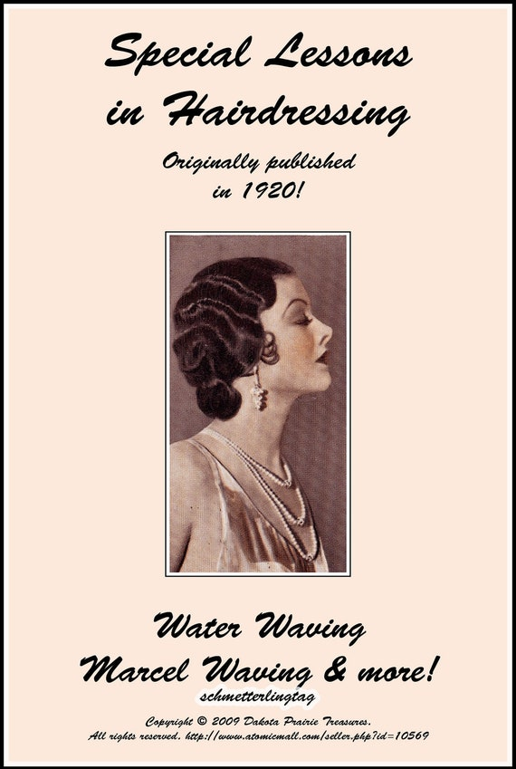 1920s Flapper Headband, Gatsby Headpiece, Wigs 1926 Finger Waving Book  AT vintagedancer.com