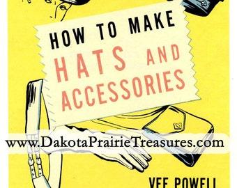 Vintage Millinery Glove Bag Hat Making Patterns Instruction CD Book 1946
