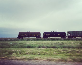TX train on a cloudy day