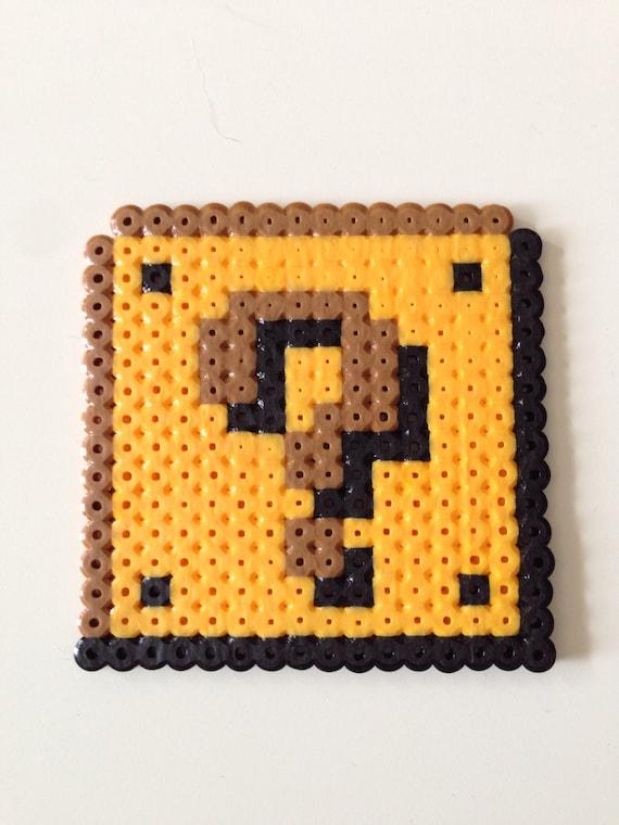 Münze Block Von Super Mario Bros Fuse Bead Pixel Art Etsy