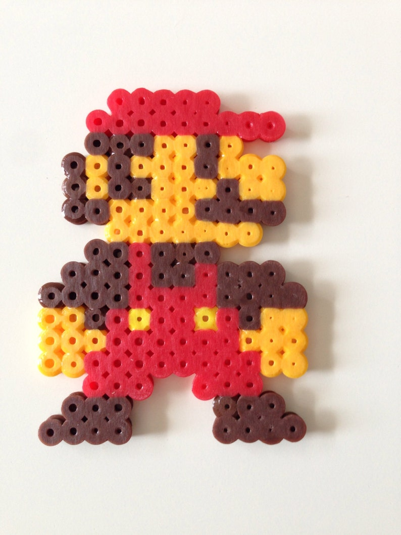 Small Mario From Super Mario Bros Fuse Bead Pixel Art Etsy