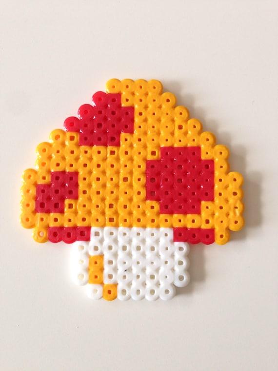 Mario Mushroom From Super Mario Bros Fuse Bead Pixel Art Etsy