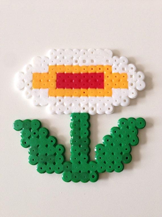 Flor De Fuego De Super Mario Bros Fusible Grano Pixel Art